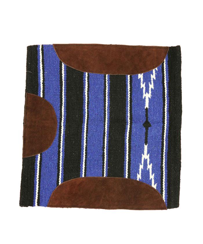 western-schabracke-königsblau-schwarz