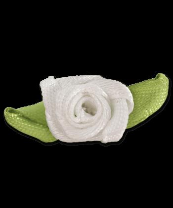 Weisse Rosen Mähnenschmuck