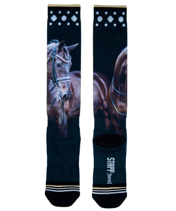 socken horse schwarz